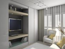 modern strömförande för interior 3d framför lokal Royaltyfria Foton