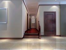 modern strömförande för interior för korridor 3d framför lokal Arkivfoton