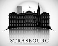 Modern Strasbourg City Skyline Design. France Stock Image