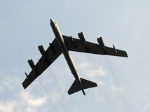 Modern strategic bomber. Heavy bomber capable of carrying nuclear weapons stock image