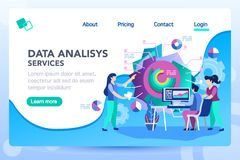 Modern Strategy Analysis Consult Marketing Concept. Analysis management consult. Marketing modern strategy. Menu project navigation on software research vector illustration