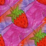 Modern strawberries seamless watercolor artist wallpaper texture Stock Photo