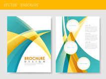 Modern streamlined flyer template for business Royalty Free Stock Photography