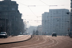Modern street. In bucharest romania Stock Image