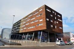 Modern street corner in Almere, Holland Stock Photo