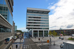 Modern Street In Almere, Holland Stock Photography
