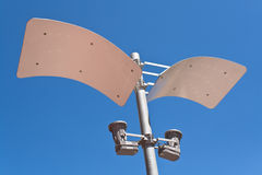 Modern street lamp Stock Photos