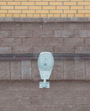Modern street lamp on a brick wall house, modern street lamp Royalty Free Stock Images