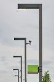 Modern street lamps blank board Stock Image