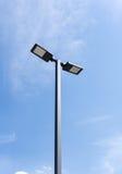 Modern street lighting against blue sky Royalty Free Stock Image