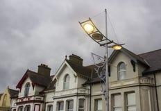 Modern street lighting in Newcastle County Down Northern Ireland stock image