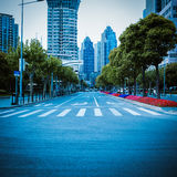 Modern street view in shanghai Royalty Free Stock Images