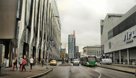 modern streets of Tallinn Stock Photos
