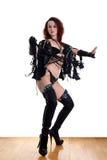 Modern strip dancer in ballroom Stock Images