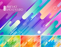 Modern stripes abstract background. Modern rounded shapes vector abstract background. Suitable for your design element and background Royalty Free Stock Photography