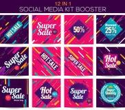 Multipurpose social media kit booster Royalty Free Stock Photos