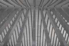Modern Structure. An abstract closeup of the white concrete lines of a train station roof royalty free stock images