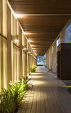 Modern structure corridor Royalty Free Stock Image