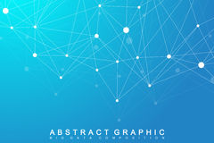 Modern Structure Molecule DNA. Atom. Molecule and communication background  Stock Image