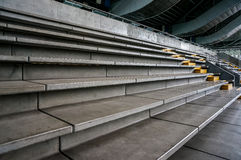 Modern structures and materials for safety. Leading lines and unique solutions to achieve the public safety at a recreational facility Stock Photography
