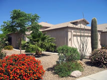 Modern Stucco Home. Modern western USA stucco single family home Royalty Free Stock Photography