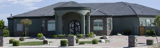 Modern stucco home Royalty Free Stock Photography