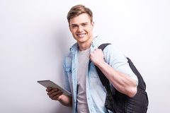 Modern student. Royalty Free Stock Photo