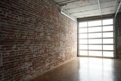 Modern studio loft stock photography