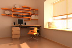 Modern study room Royalty Free Stock Photo