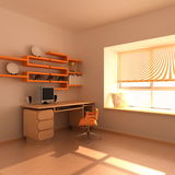 Modern study room Stock Images