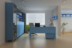 Modern study room Stock Image