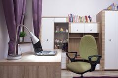 Modern study room royalty free stock photo