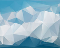 Modern style abstract geometric background of blue tones Stock Images