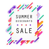 Modern style abstraction with advertisements. Summer discounts Stock Photo