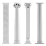 Modern style architectural classic columns Stock Images