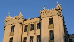 Modern style of architecture. Ukraine, Kiev. Year of construction 1902 stock video footage