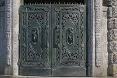 Modern style art noveau door gate Offenbach Royalty Free Stock Photos