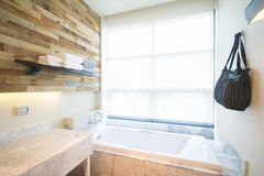 Modern style bathroom Royalty Free Stock Images