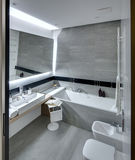 Modern style bathroom Royalty Free Stock Photography