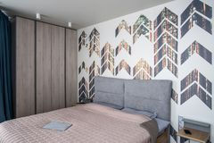 Modern style bedroom Royalty Free Stock Images