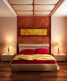Modern style bedroom interior Royalty Free Stock Photography