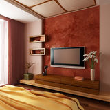 Modern style bedroom interior 3d Stock Images