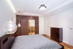 Modern style of the bedroom Royalty Free Stock Photo