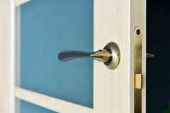 Modern style bronze door handle Stock Image