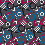 Modern style chaotic repeatable motif. Royalty Free Stock Photography
