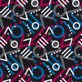Modern style chaotic repeatable motif. Stock Image