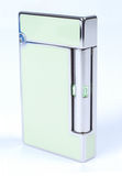 Modern Style Cigarette Lighter. Green Cigarette Lighter. Female style Stock Photos