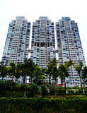 Modern style condo apartments. A photograph showing an ultra modern design condominium apartment block with link bridges in between the three blocks.  Unique Stock Images