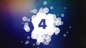 countdown from ten with abstract grouping bubbles and space background