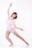 Modern style dancer. Posing on white background stock photos